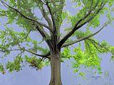 琼枝玉树,枝繁叶茂现代风格油画