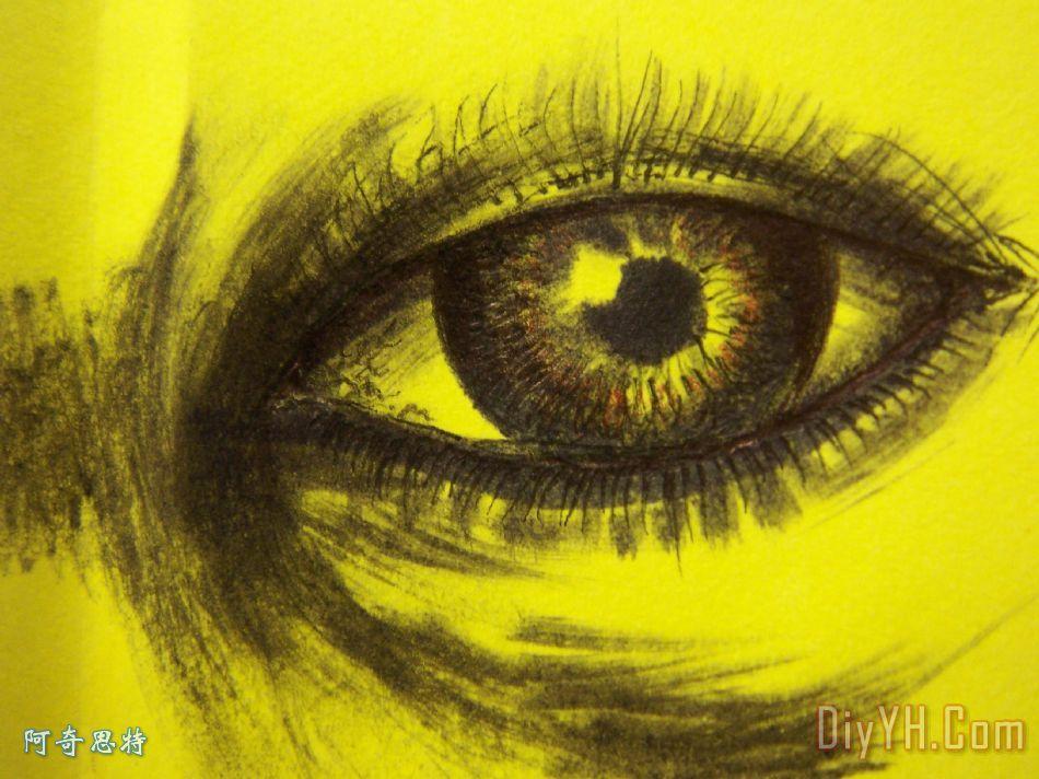 眼睛装饰画_眼睛油画定制