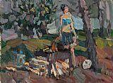 野餐在树林装饰画