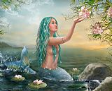 美人鱼爱丽儿装饰画