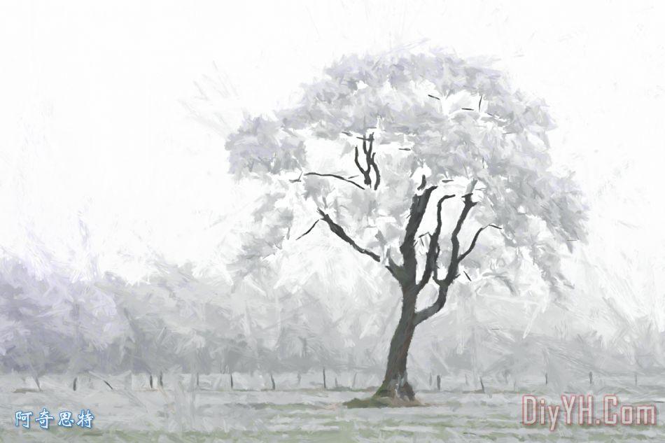 冬天的拥抱 - 冬天的拥抱装饰画