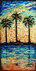斑驳的棕榈三重奏装饰画