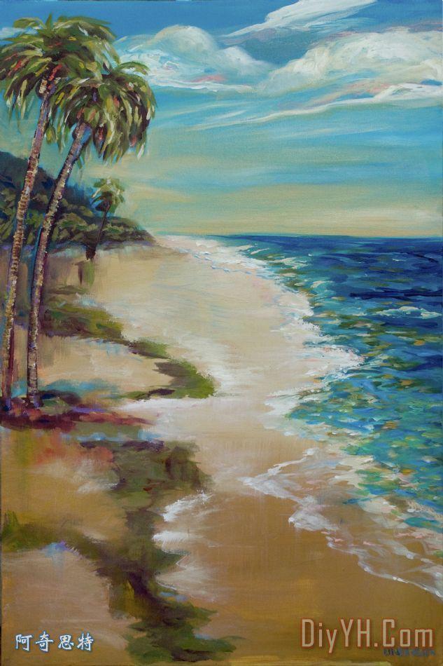 『纯手绘油画风景画 地中海装饰画 单幅价格 zmfr140984』的供应商
