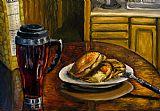 静物煎饼和咖啡画装饰画