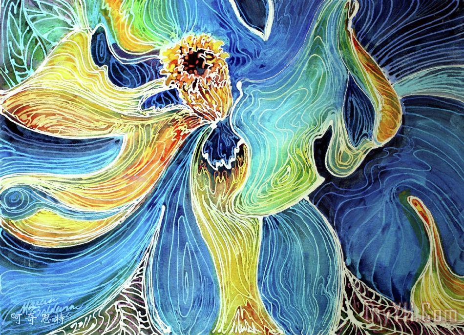 水彩手绘花卉南方