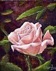 玫瑰桃发光装饰画