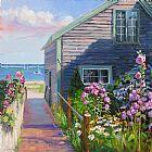 海边木屋装饰画