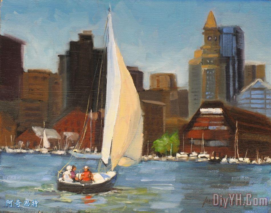 白山市帆船波士顿港
