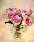 水彩玫瑰静物装饰画