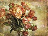 复古花卉静物装饰画