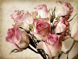 水彩花束静物装饰画