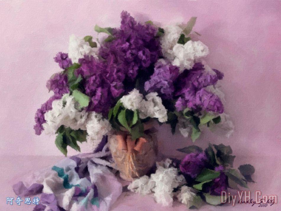 热情的紫色花