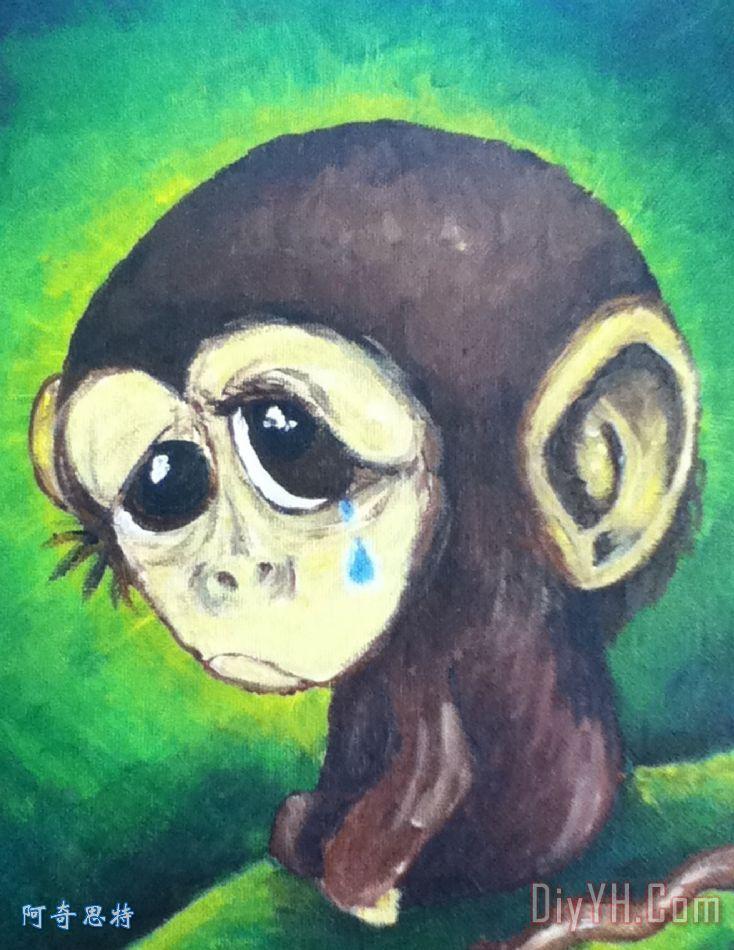 伤心的小猴子