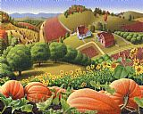城市艺术 - 阿巴拉契亚民间艺术万圣节南瓜景观感恩节秋季农庄乡村美洲