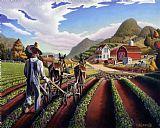 城市艺术 - 民间艺术农场景观培育豌豆童话故事的场景美洲国家的生活幻想美国