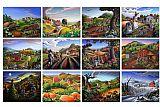 城市风光照片 - 民间艺术季节性季节采样问候农村农庄收集农场风光场景