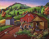城市艺术 - 感恩节民间艺术玉米收获农场童话景观农村乡村生活美洲