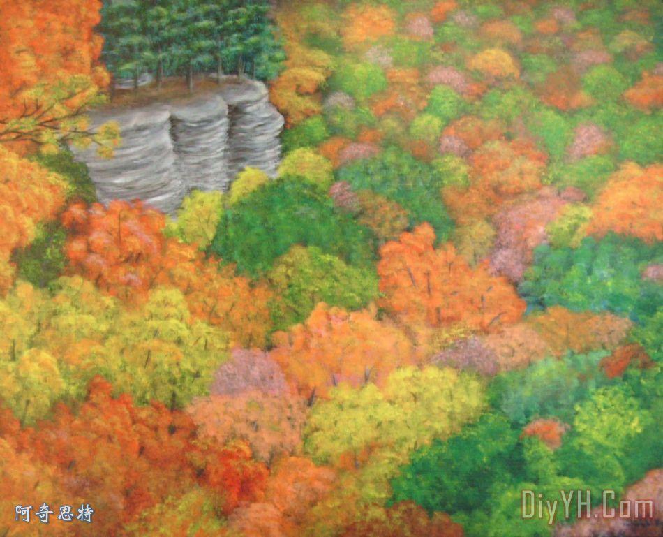 美丽的秋天装饰画_风景_季节_鲜艳的_美丽的秋天油画