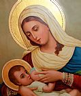基督教 - 婴儿耶稣写实油画