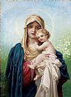 甜蜜的婴儿耶稣装饰画