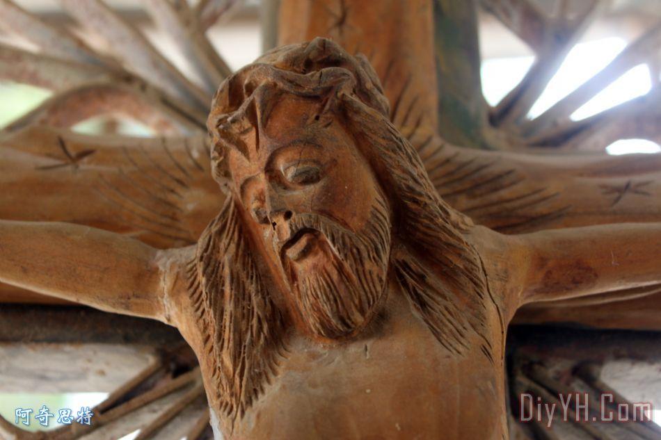 木制十字架在牧羊人场装饰画