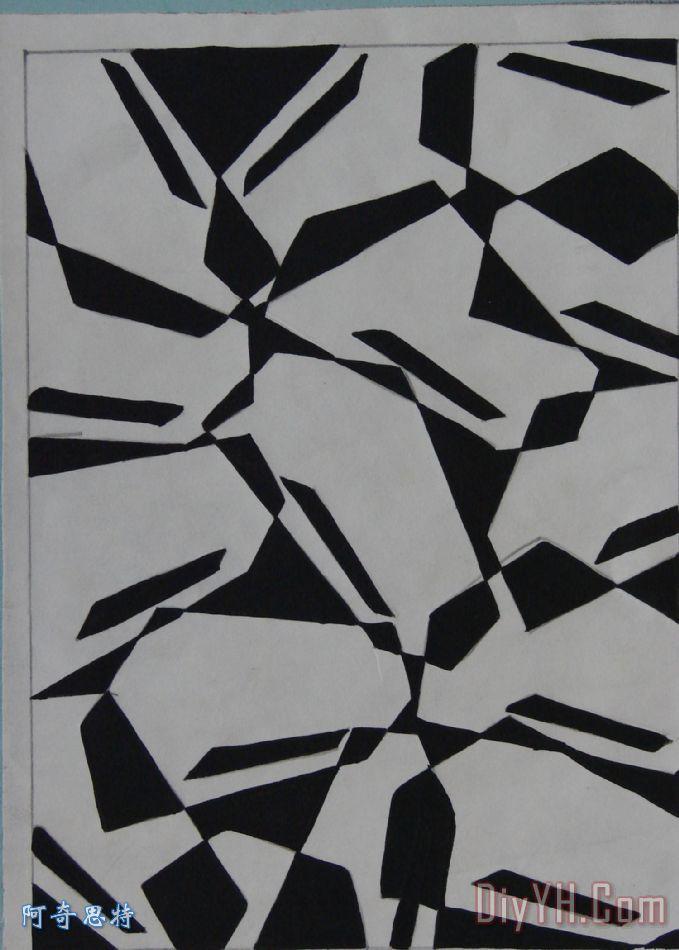 对比装饰画 遮光物 黑白 对比油画定制 阿奇思特