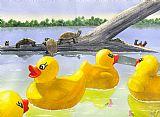 小黄鸭动物装饰画