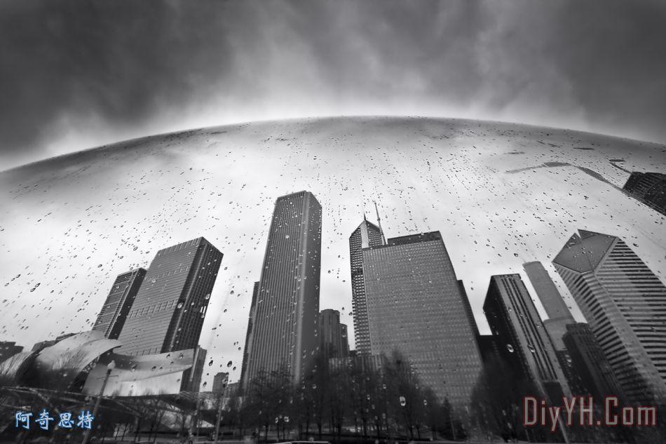 芝加哥黑白摄影 - 芝加哥黑白摄影装饰画