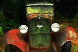 老道奇车装饰画