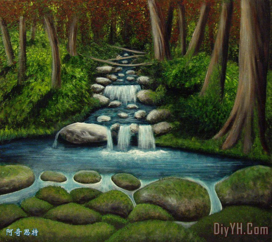隐藏的瀑布 - 隐藏的瀑布装饰画