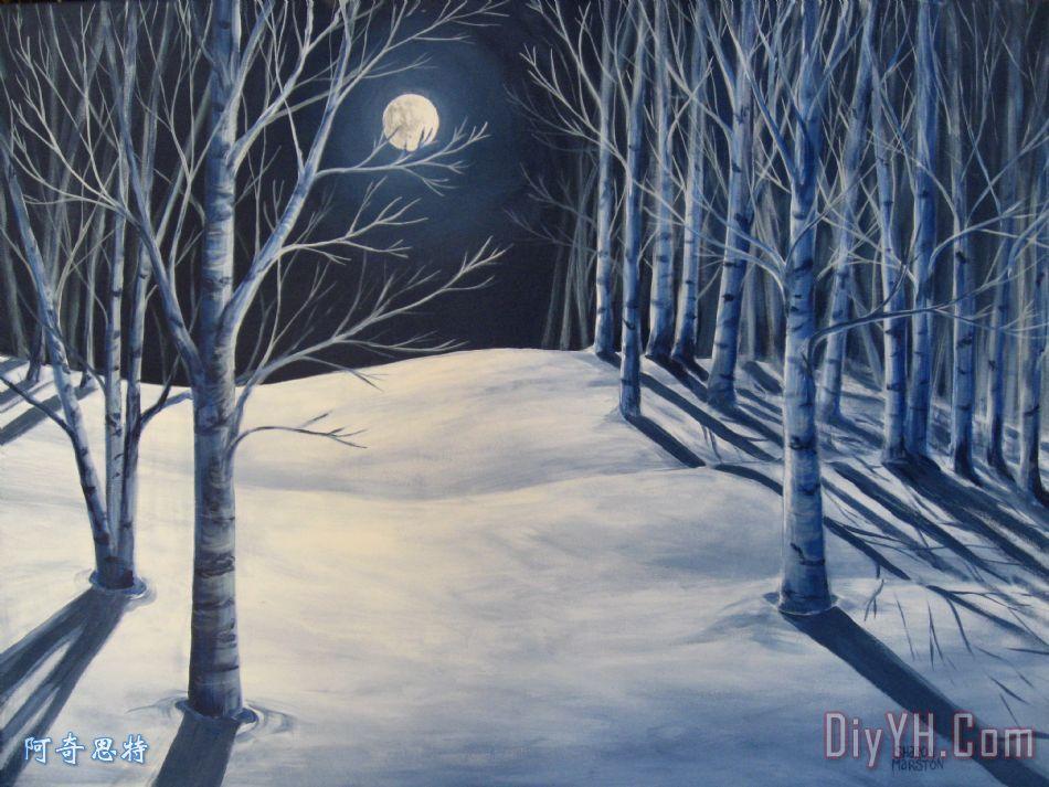 月亮阴影 - 月亮阴影装饰画