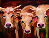 六喇叭奶牛装饰画