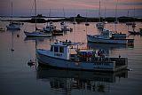 港口在日落装饰画