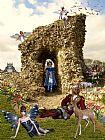 城堡童话英亩土地装饰画