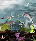 海豚玩装饰画