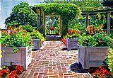 美丽的意大利花园装饰画