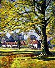 英格兰村庄装饰画