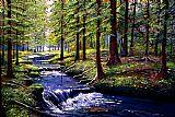 - 森林溪流