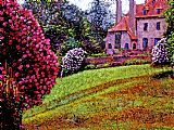 杜鹃花园装饰画