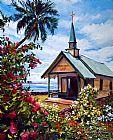 kahaalu夏威夷教会装饰画