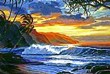 毛伊岛的魔法装饰画