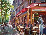 巴黎咖啡馆社会装饰画