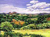 连绵起伏的丘陵苏格兰装饰画