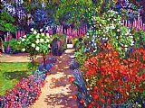 漫步花园办公室油画