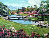 春季花卉公园装饰画