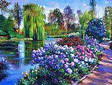 春天公园装饰画