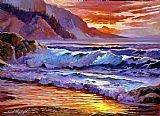 日出的海滩装饰画