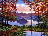 山水画中式风格油画
