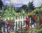 画家的调色板花园装饰画