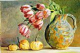 郁金香和壁球装饰画